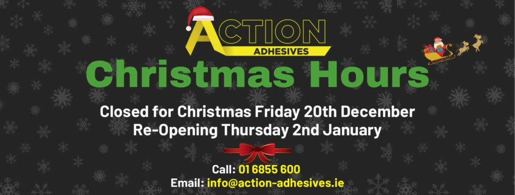 Christmas Hours Action Adhesives